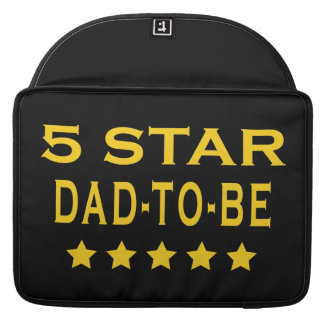 Funny Cool Gifts Five Star Dad to Be Sleeve For MacBook Pro