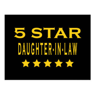 Funny Cool Gifts : Five Star Daughter in Law Postcard