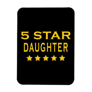 Funny Cool Gifts Five Star Daughter Magnet