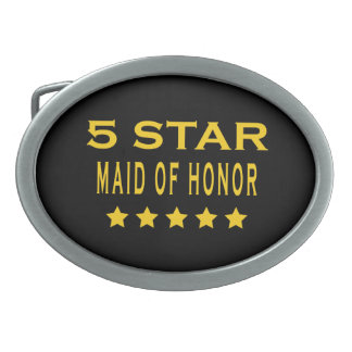 Funny Cool Gifts : Five Star Maid of Honor Oval Belt Buckle