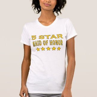 Funny Cool Gifts : Five Star Maid of Honor Tshirts