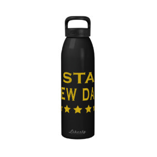 Funny Cool Gifts Five Star New Dad Reusable Water Bottles