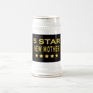 Funny Cool Gifts : Five Star New Mother Coffee Mugs