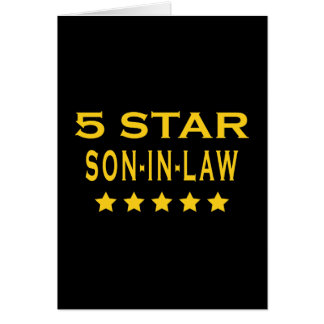 Funny Cool Gifts : Five Star Son in Law Card