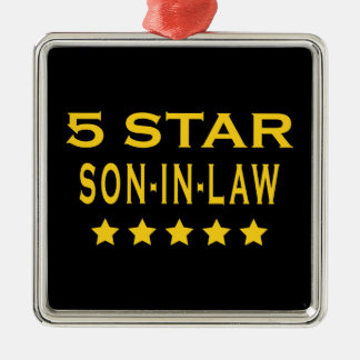 Funny Cool Gifts : Five Star Son in Law Metal Ornament