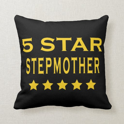 Funny Cool Gifts : Five Star Stepmother Pillow