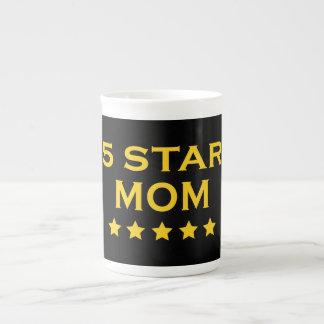 Funny Cool Gifts for Moms Five Star Mom Bone China Mug
