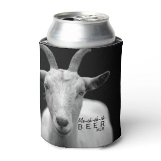 "Funny Cool Goat Sound ""My Beer"" monogram Can Cooler"