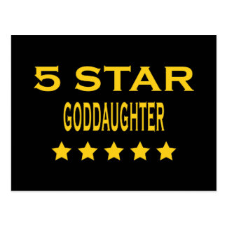 Funny Cool Goddaughters Five Star Goddaughter Post Cards