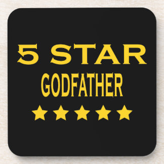 Funny Cool Godfathers : Five Star Godfather Beverage Coasters