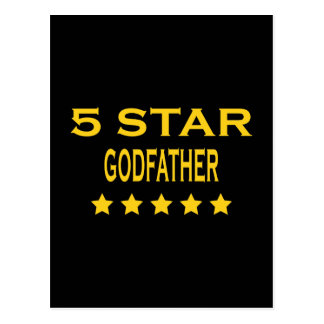 Funny Cool Godfathers : Five Star Godfather Postcard