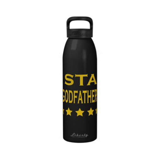Funny Cool Godfathers : Five Star Godfather Reusable Water Bottles