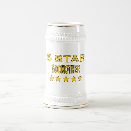 Funny Cool Godmothers : Five Star Godmother 18 Oz Beer Stein
