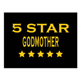 Funny Cool Godmothers : Five Star Godmother Postcard