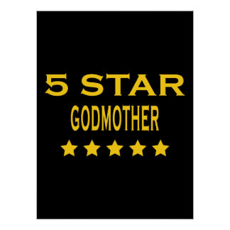 Funny Cool Godmothers : Five Star Godmother Poster