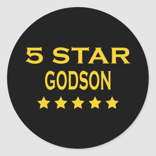 Funny Cool Godsons : Five Star Godson Classic Round Sticker