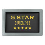 Funny Cool Grandfathers : Five Star Grandfather Rectangular Belt Buckle