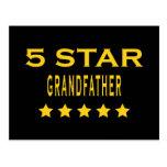 Funny Cool Grandfathers : Five Star Grandfather Postcard