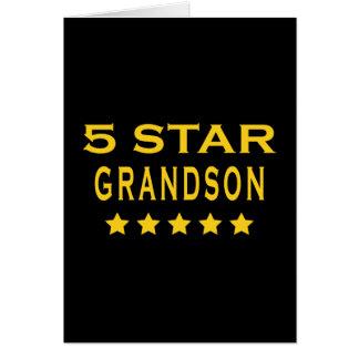 Funny Cool Grandsons : Five Star Grandson Card