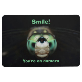 Funny Cool Home Security Garden Dragonfly Floor Mat