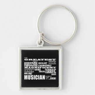 Funny Cool Musicians Birthdays : Greatest Musician Silver-Colored Square Keychain