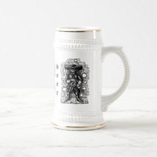 Funny cool pirate beer mug design