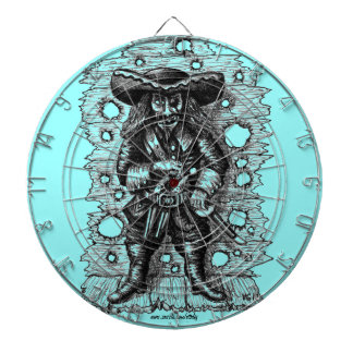 Funny cool pirate pen ink drawing art dartboard