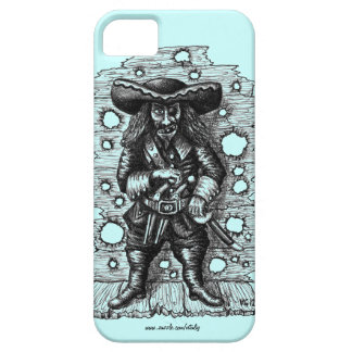 Funny cool pirate pen ink drawing art iPhone SE/5/5s case