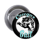 Funny Cool Retro Cougar Bait Geeky Pinback Buttons