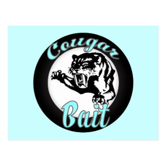 Funny Cool Retro Cougar Bait Geeky Postcard