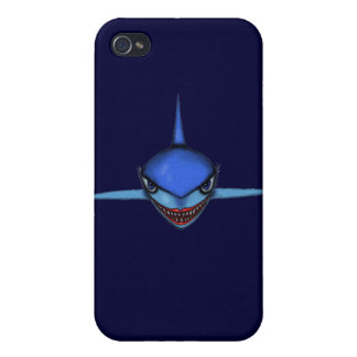Funny cool shark cartoon art iphone case design iPhone 4 cases