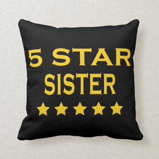 Funny Cool Sisters : Five Star Sister Pillow