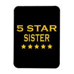 Funny Cool Sisters : Five Star Sister Vinyl Magnet