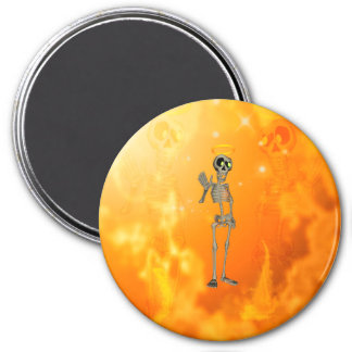 Funny, cool skeleton with nimbus magnets