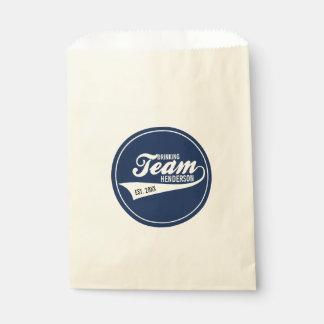 Funny Cool Sports Team Logo Your Custom Team Name Favor Bag