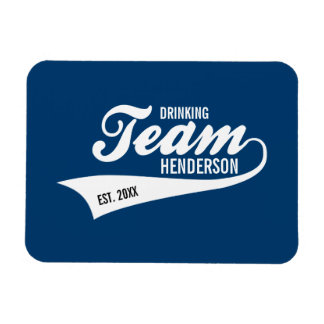 Funny Cool Sports Team Logo Your Custom Team Name Magnet