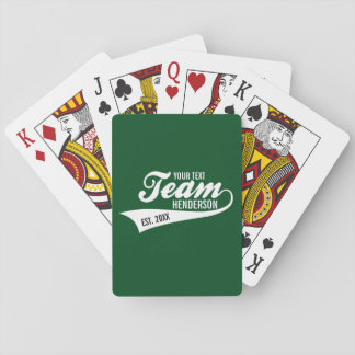Funny Cool Sports Team Logo Your Custom Team Name Playing Cards