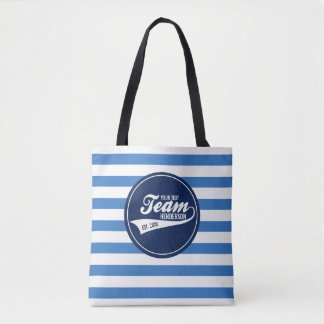 Funny Cool Sports Team Logo Your Custom Team Name Tote Bag