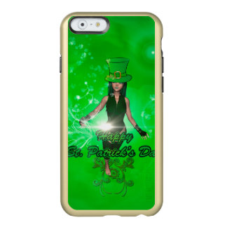 Funny, cool St. Patrick's Day girl with hat Incipio Feather® Shine iPhone 6 Case