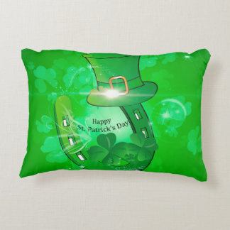 Funny, cool St. Patrick's Day hat Accent Pillow