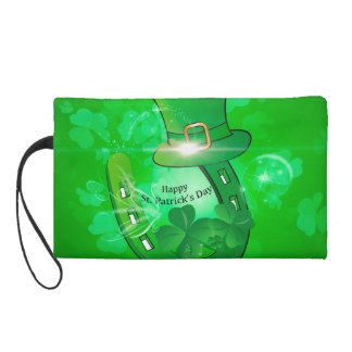 Funny, cool St. Patrick's Day hat Wristlet Purses