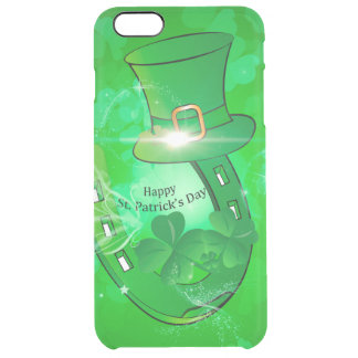 Funny, cool St. Patrick's Day hat Clear iPhone 6 Plus Case