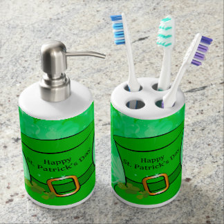 Funny, cool St. Patrick's Day hat Bath Accessory Sets