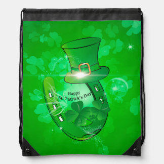 Funny, cool St. Patrick's Day hat Cinch Bags