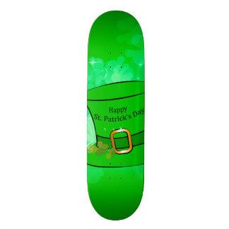 Funny, cool St. Patrick's Day hat Custom Skate Board