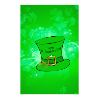 Funny, cool St. Patrick's Day hat Stationery