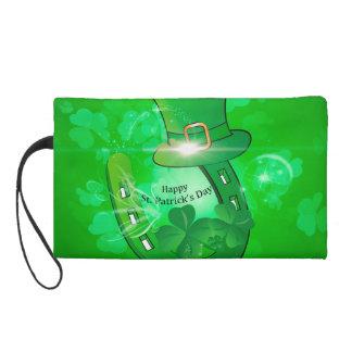 Funny, cool St. Patrick's Day hat Wristlet Purse