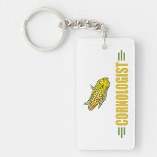 Funny Corn Single-Sided Rectangular Acrylic Keychain