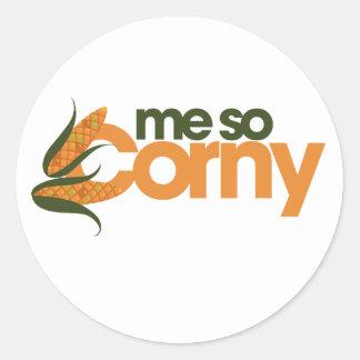 Funny Corn Round Sticker