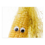 Funny Corn With Eye Postcard at Zazzle